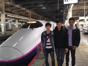 実習生と新幹線